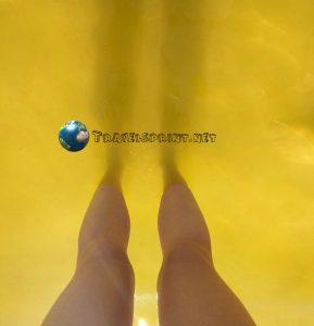 Cala alcaufar, Minorca, acqua dorata, golden water