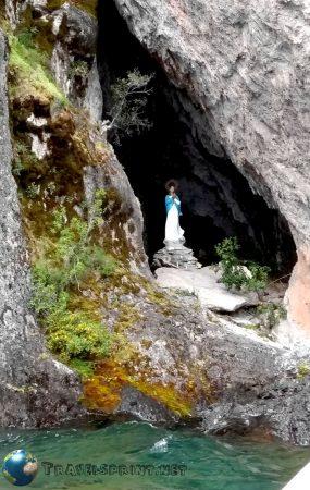 Gruta della Virgen, Villa Traful, correre in Patagonia