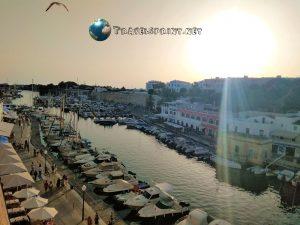 Ciutadella, porto, correre a Minorca
