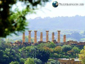 Veduta sulla Valle dei Templi, agrigento, correre in sicilia