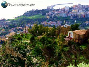 Vista dall'Eremo di San Calogero, sciacca, correre in sicilia