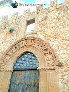 Particolare di edificio del Centro Storico di Sciacca, correre in sicilia