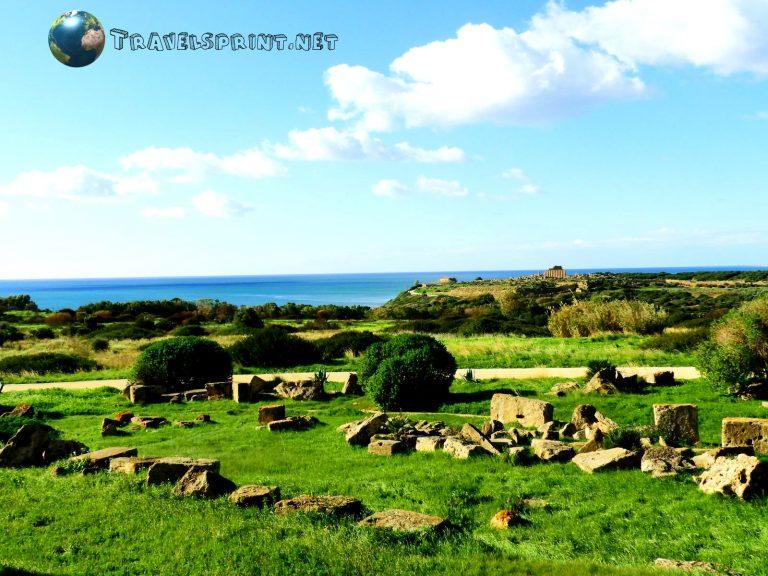 Rovine Parco Archeologico di Selinunte, correre in sicilia