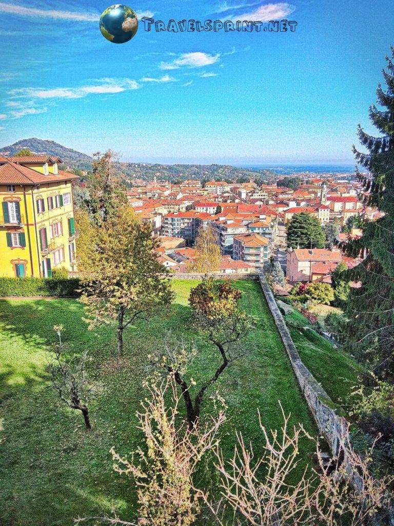 Vista panoramica di Biella, correre a biella