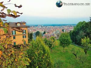 Biella vista dal Piazzo, correre a biella