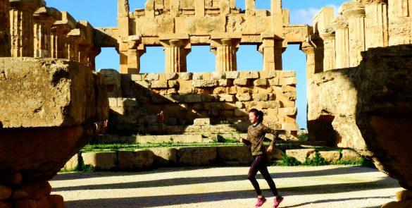 Selinunte, correre in sicilia, sito archeologico