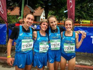 Alice Gaggi, Alessia Scaini, Elisa Sortini, Gaia Colli, Senior W - Team Italy