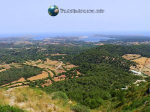Panorama dal Monte Toro, correre a Minorca