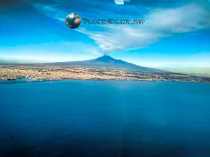 Etna in eruzione, Catania, correre in sicilia