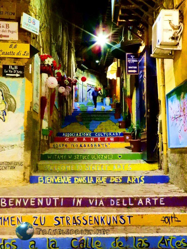 Scalinata degli Artisti, Agrigento, correre in sicilia