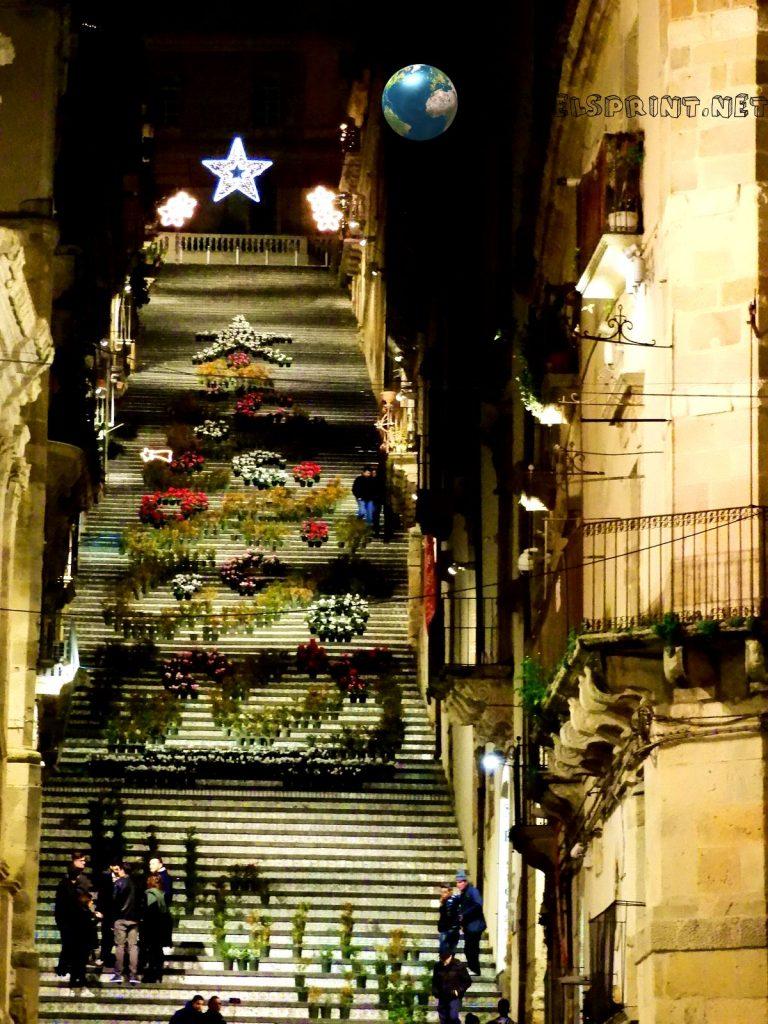 Scalinata di Santa Maria Maggiore, caltagirone, correre in sicilia