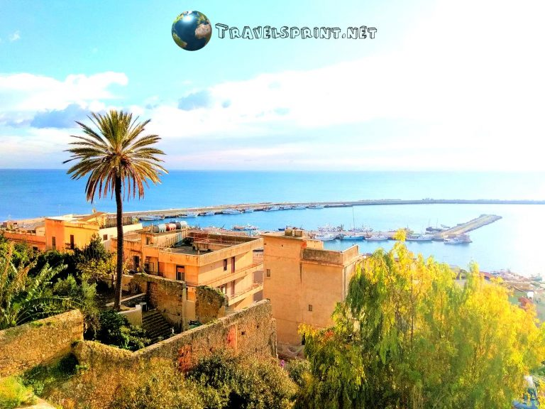 Vista dalla Piazza Angelo Scandaliato, Sciacca, correre in sicilia