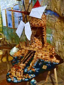 Modellino antico mulino, trapani, correre in sicilia
