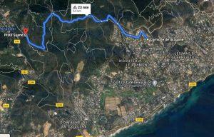 Mappa percorso Virtual Race Saint Tropez, correre in costa azzurra